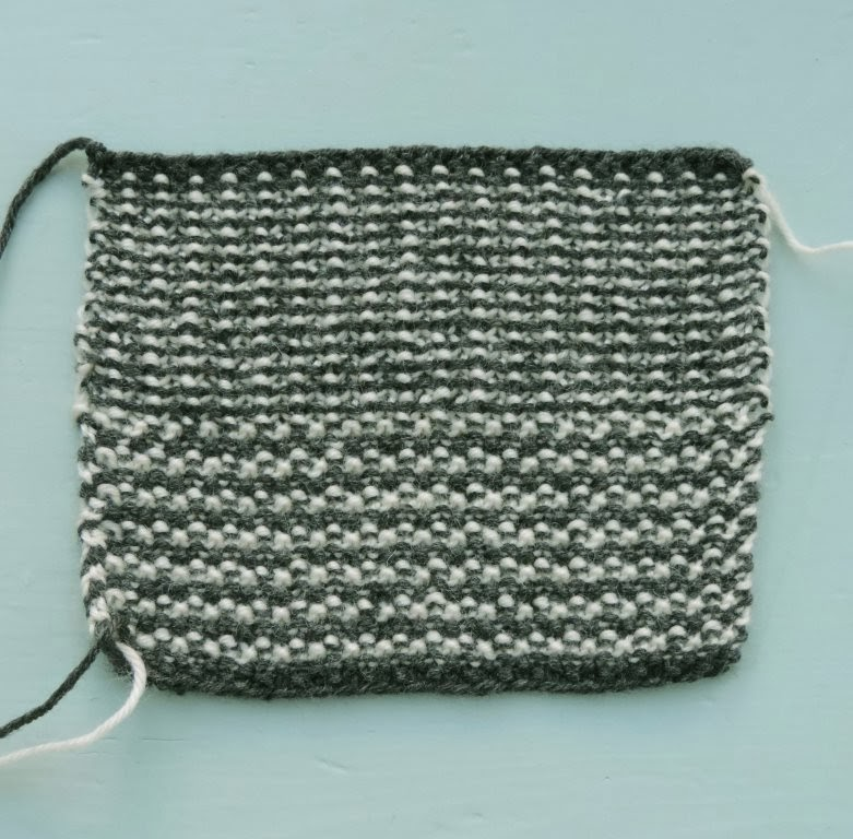 Knitting Now and Then: Two-Colour Moss Stitch