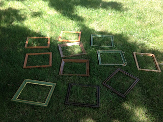 DIY picture frames for do-it-yourself greenhouse