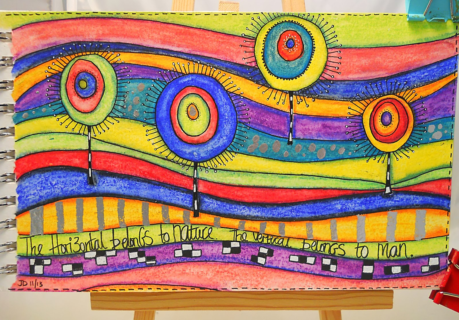 a sprinkle of imagination: A tribute to Hundertwasser.