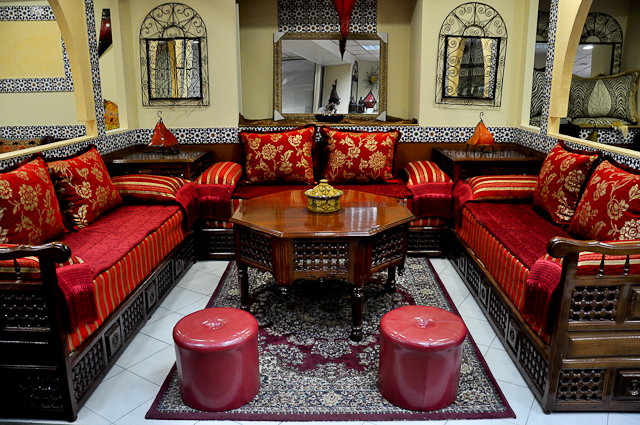 Maison moderne en l janvier 2009 for Salon traditionnel marocain vert