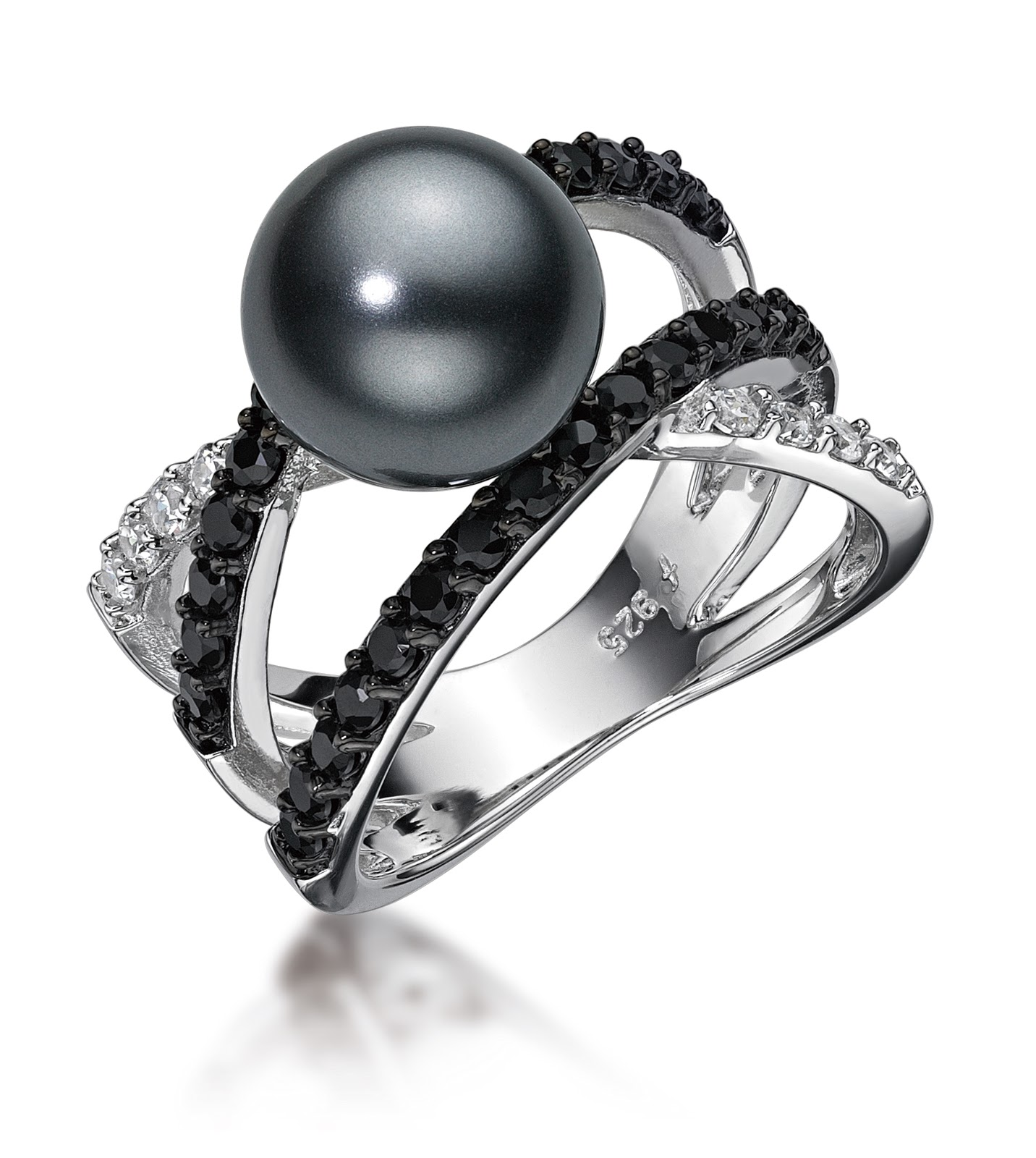 pearl ring rings pe diamond engagement swirl danhov abbraccio