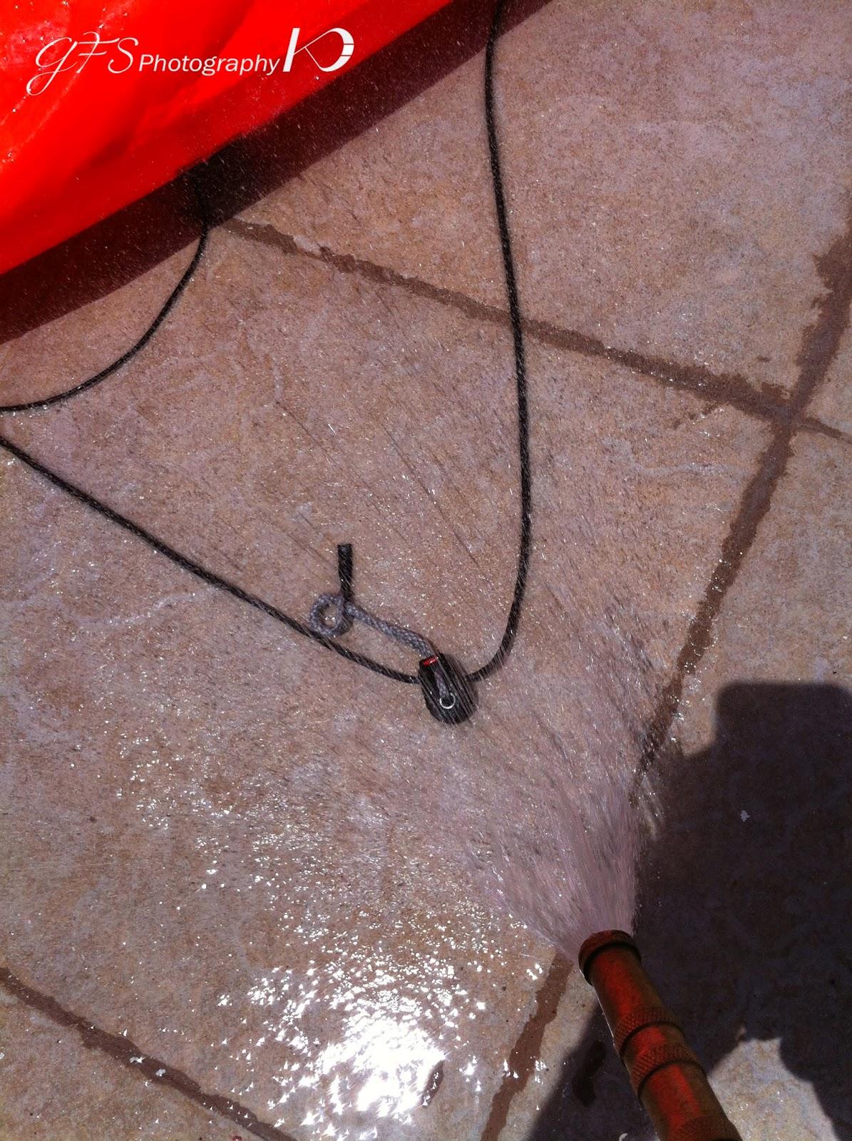kitesurf pulleys wash