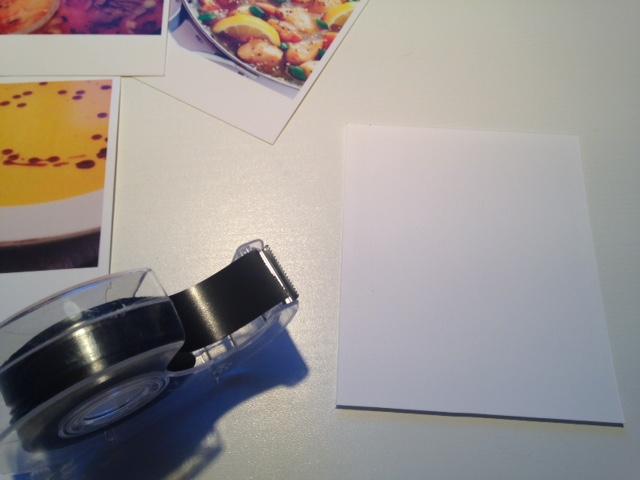larissaswelt polaroids mit essensideen am k hlschrank. Black Bedroom Furniture Sets. Home Design Ideas
