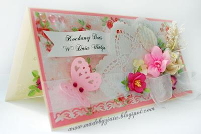 scrapbooking kartka urodzinowa kartki okolicznościowe ręcznie robione barbara wójcik piekary śląskie