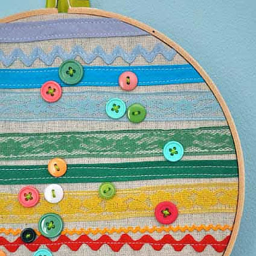 Embroidery Hoop Wall Art Little Bit Funky