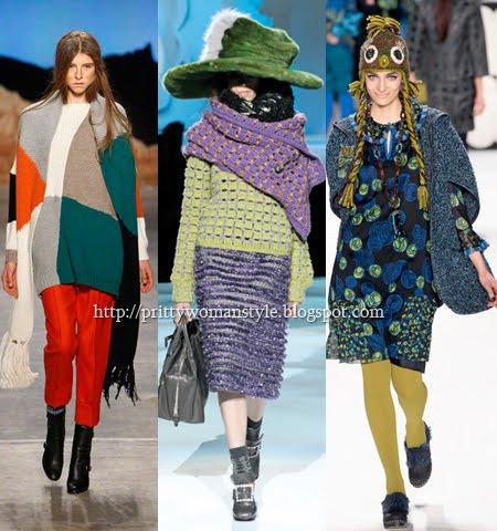 Плетени шалове и шапки 2013
