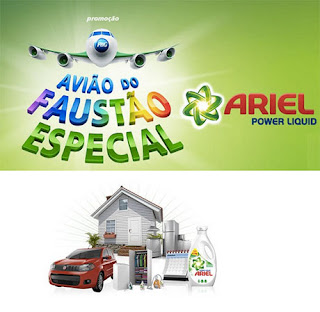 Participar da promoção Avião do Faustão especial Ariel