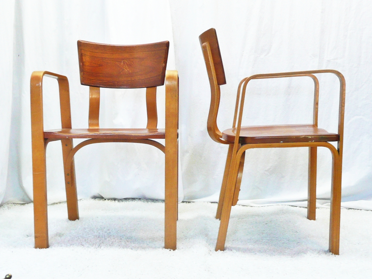 A Pair Of 1948   Mid Century Modern Bent Ply Chairs ...