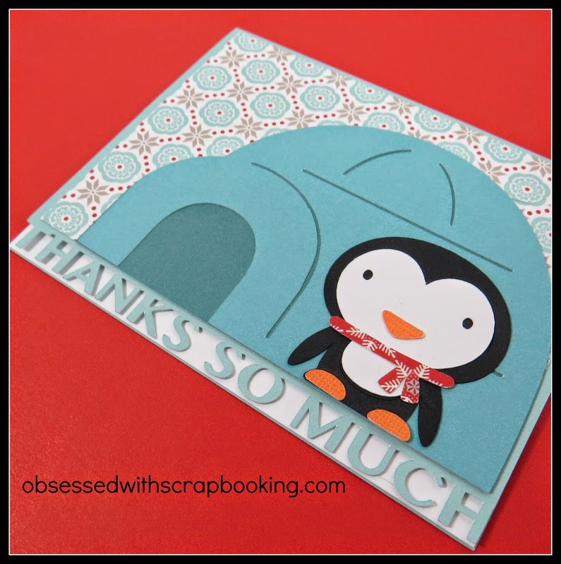 Close to My Heart, Cricut, Artfully Sent, cardmaking, Create A Critter, penguin, thank you card
