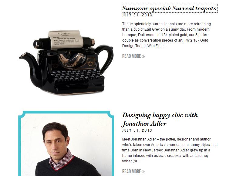 Surreal Teapots & Jonathan Adler