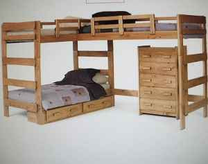 bunk bed plans l shaped