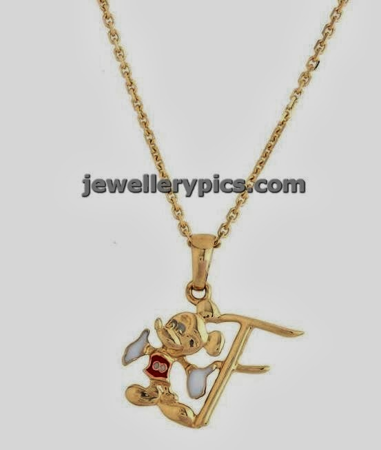 disney kids gold jewellery necklace pendents