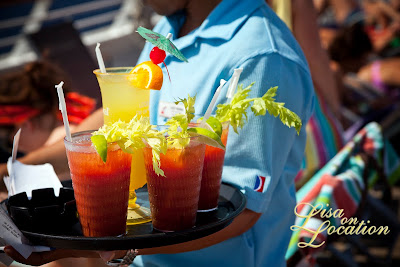 Carnival Conquest cruise ship Lido deck cocktails, photo by Lisa On Location Photography
