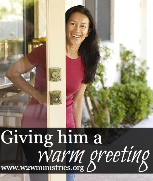 Giving your husband a warm greeting. #marriage