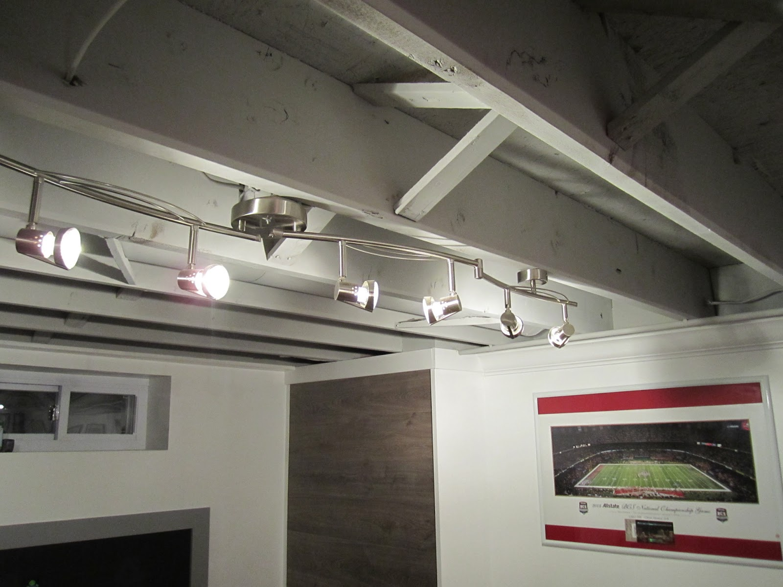 projects of plenty basement build basement is finally complete bets basement lighting