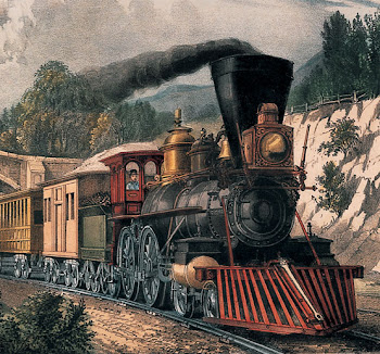 Locomotora de vapor del tipo Oeste.