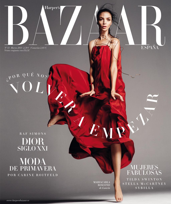 Mariacarla Boscono in Lanvin by Alber Elbaz dress in Harper's Bazaar Spain March 2015 (photography: Txema Yeste, styling: Juan Cebrian) via www.fashionedbylove.co.uk