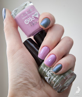Rimmel Camouflage Chic + Sorbet So Good + CND Ice Blue Shimmer