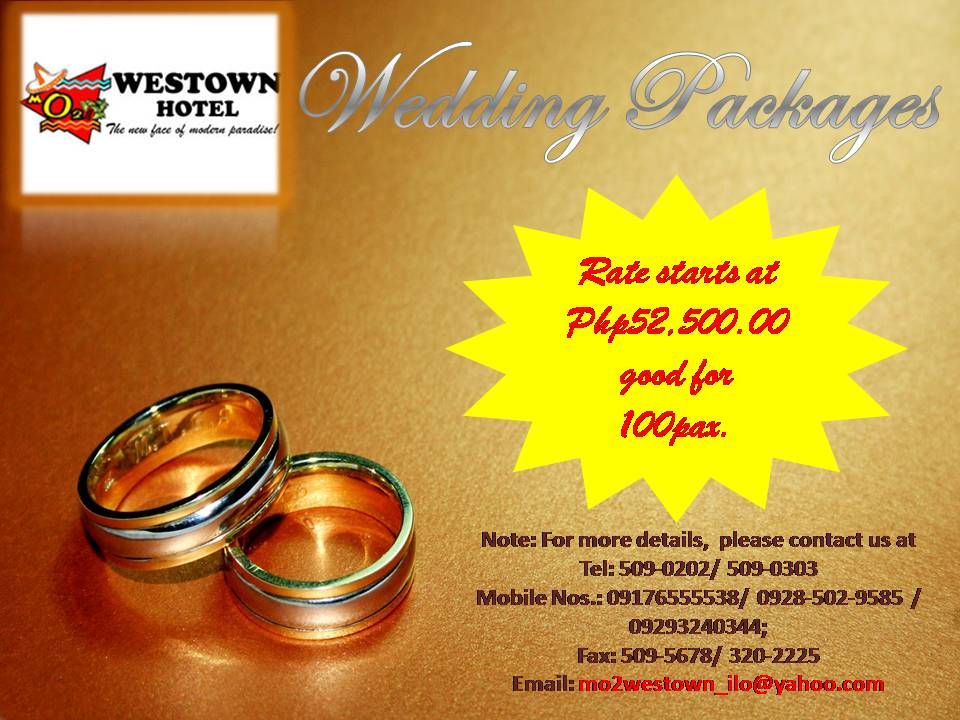 Mo2 Westown Hotel Iloilo Wedding Packages