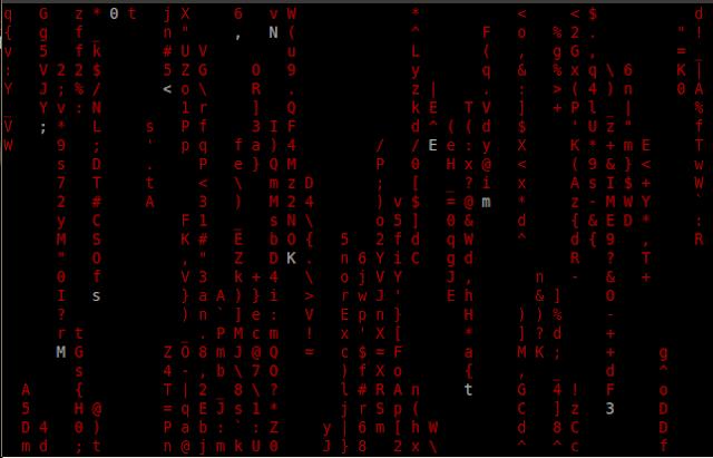 matrix like effect in ubuntu
