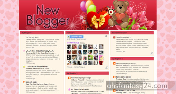 Bloglist Blogger Baharu 2013 | Segmen Tambah Follower !
