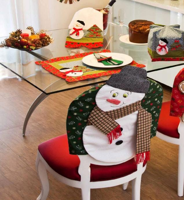 Moldes de capas natalinas para cadeiras