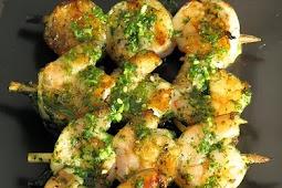 Cilantro Pesto Grilled Shrimp