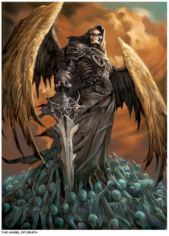 Grim Reaper Portrayed As A Warrior Skeleton With Wings
