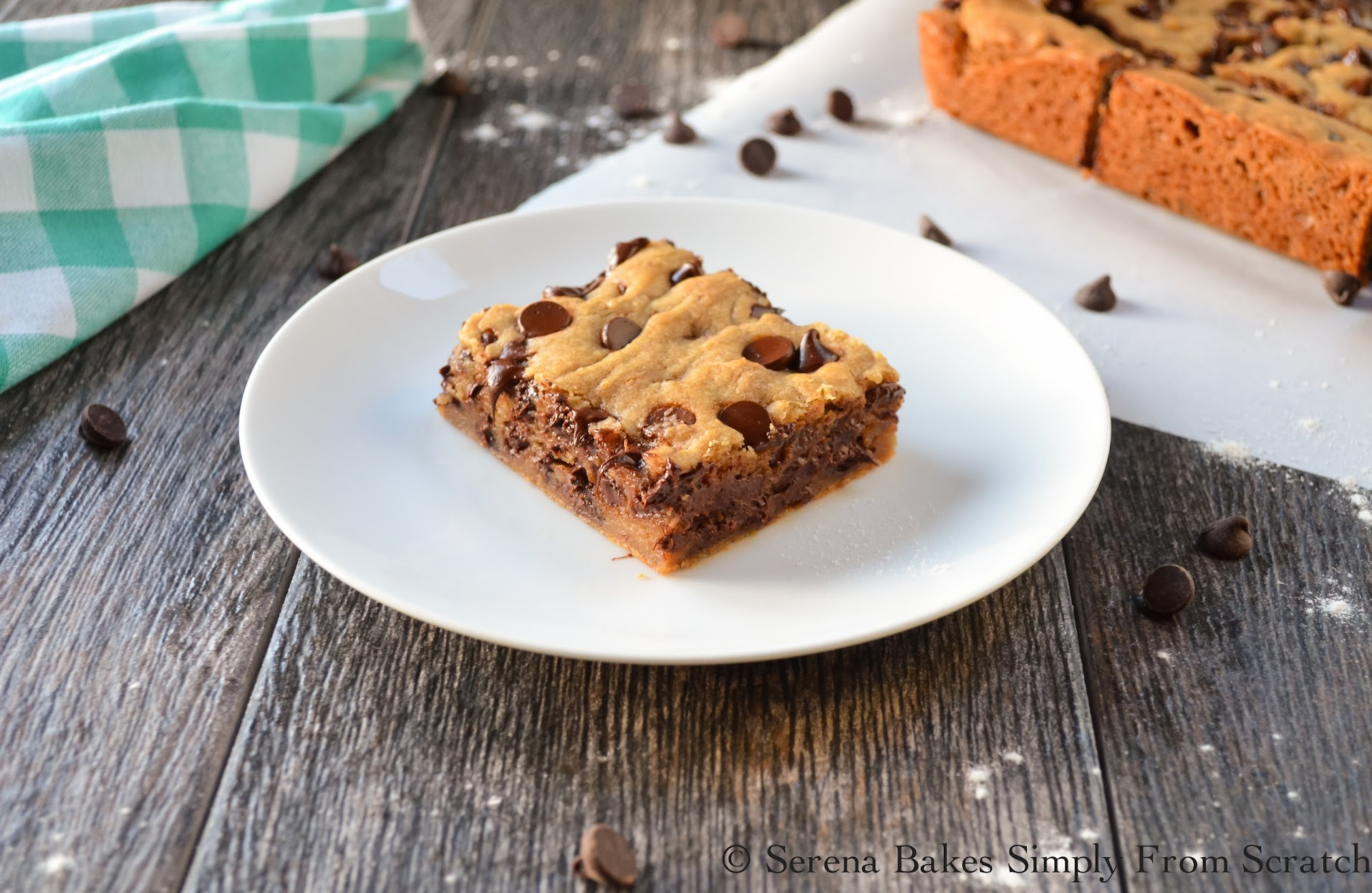 Brown Butter Blondies are like a brownie in texture but taste like a chocolate chip cookie.