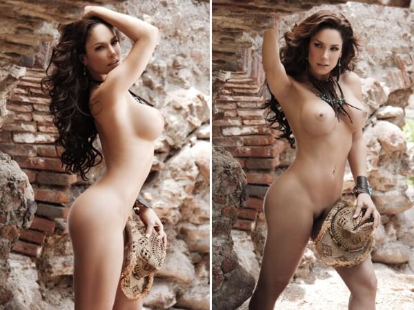 Macarena Gómez desnuda mostrando las tetas en