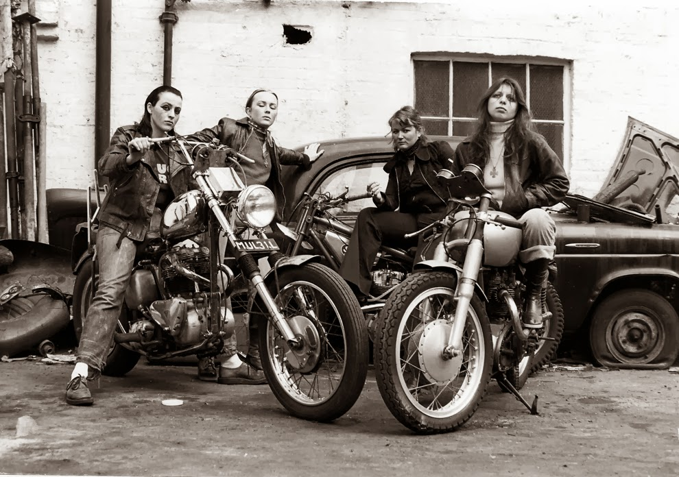 group of women associated with the Hells Angels, 1973.