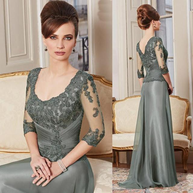 vestidos de mãe da noiva verde