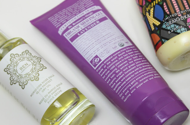 A picture of Dr. Bronner Organic Lavender Shaving Gel