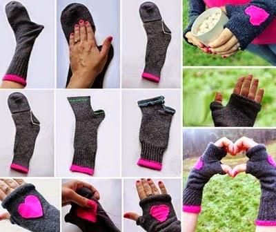 Manualidades recicladas con calcetines