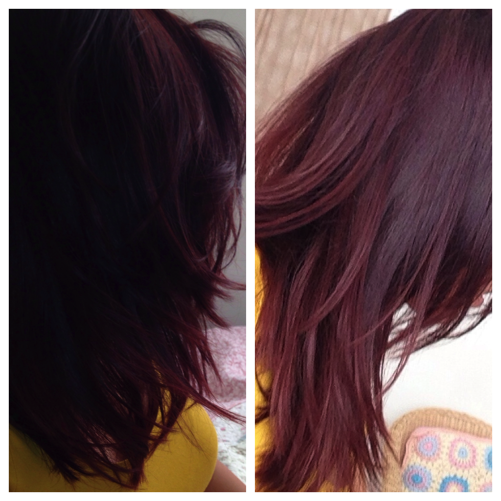 Burgundy Plum Ombre Hair Color With this new hair colour.