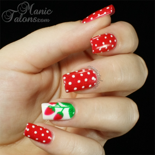 Strawberry Nail Art with Gelaze Strawberry Fields