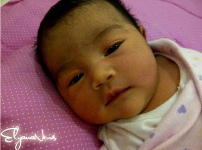 Gambar Anak Elyana dan Khairul Anuar Hussain Yang Cute Comel