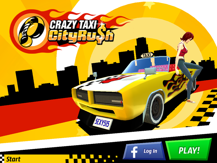 Crazy Taxi: City Rush Free App Game By SEGA
