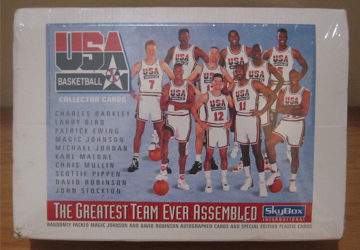 88f6c8bc6 The Chronicles of Fuji  Birthday Box Break  1992 Skybox Team USA ...