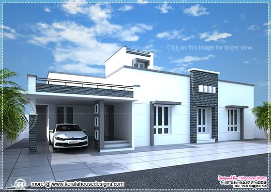 Modern Single Floor Front Elevation : September kerala home design and floor plans