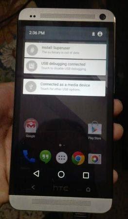 Android L berhasil di instal di HTC One