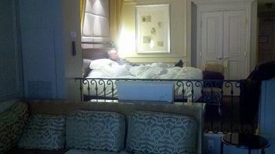 Opa relaxing in the Venetian Las Vegas Suite.