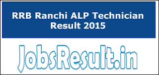 RRB Ranchi ALP Technician Result 2015