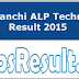 RRB Ranchi ALP Technician Doc Verification Result 2015 At Rrbranchi.org