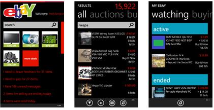 eBay app for Samsung Ativ S