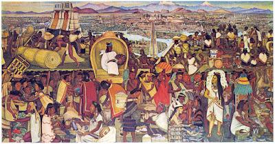 Tianguis en Tenochtitlán - Mural de Diego Rivera