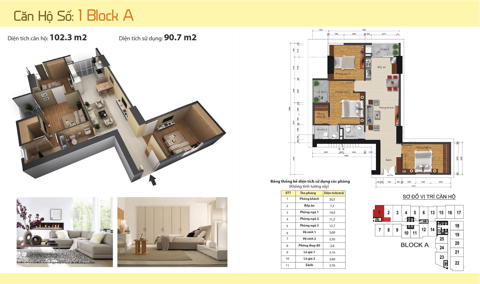 Thiết kế nội thất chung cư Gemek Tower 28