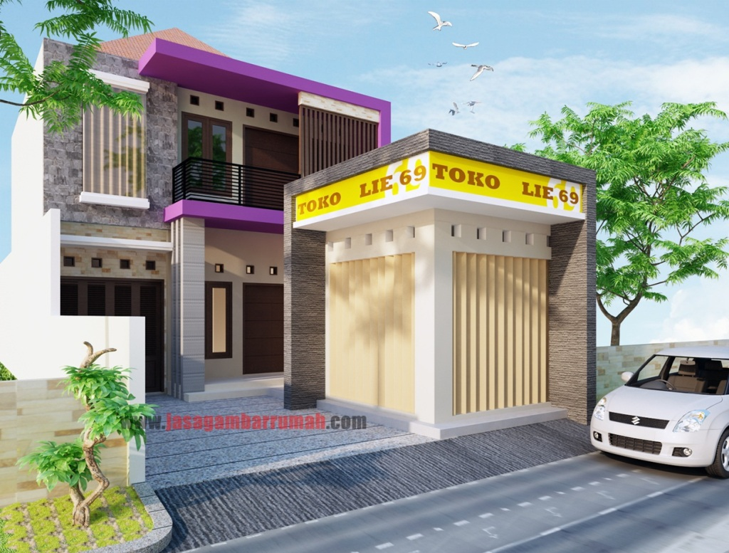 5 Ruko minimalis ideas  house design, small house elevation