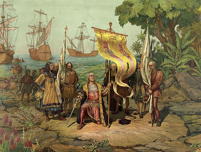 Columbus arriving in America