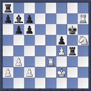 Echecs à Caen : la position après 30...Rg6
